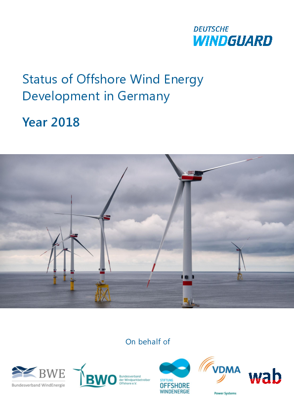 Factsheet: Status of Offshore Wind Energy Development in Germany Year 2018