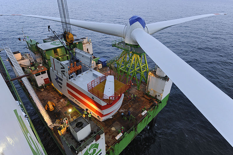 alpha ventus - Windpark in der Nordsee © REpower Systems AG / Jan Oelker