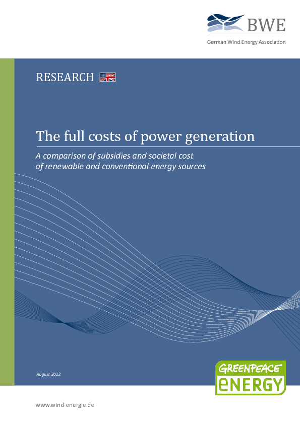 The full costs of power generation