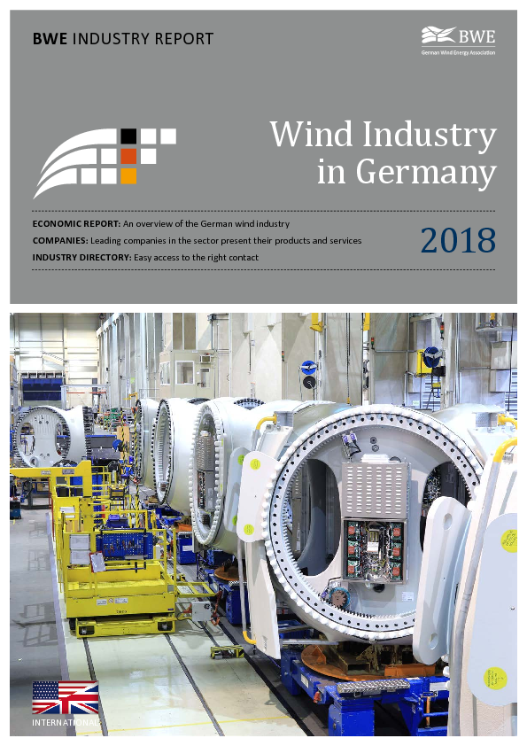 BWE Industry Report: Wind Industry in Germany 2018