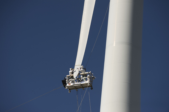 Rotorblattinspektion © windpower works